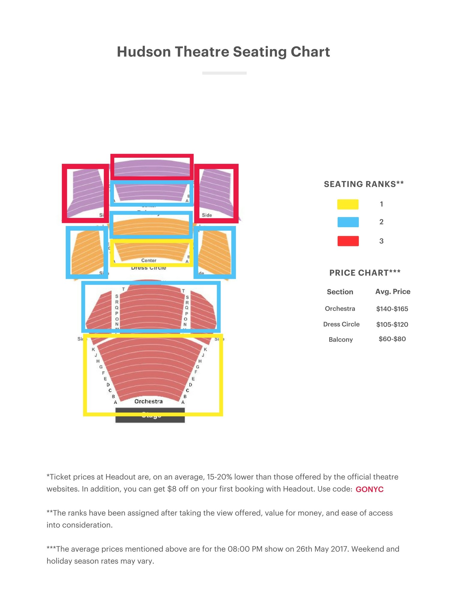 Hudson Theatre Seating Chart Thelifeisdream